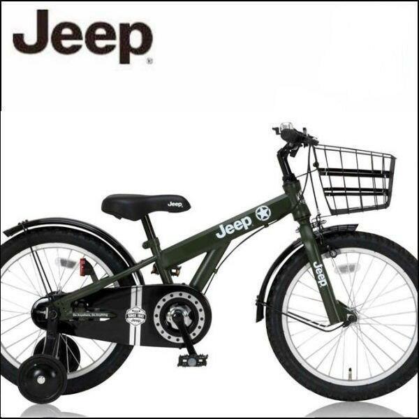 幼児用自転車 JEEP JE-18 (オリーブ) ジープ JE 18 子供用自転車 キッズバイク