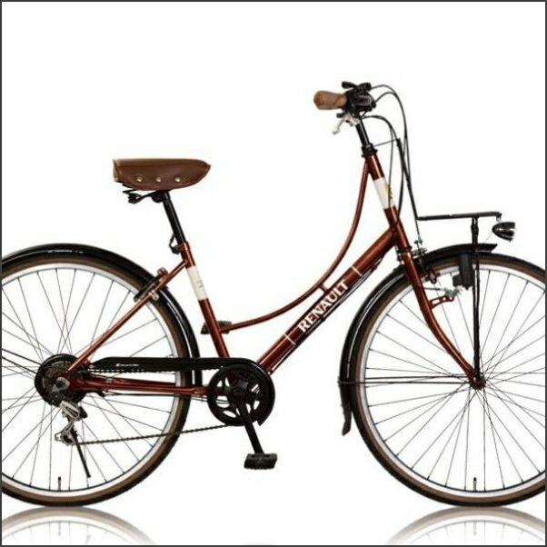 CITYバイク RENAULT 266L Classic- E 26インチシティーバイク(33843) ブラウン ルノー