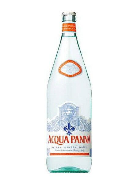 アクアパンナ(ACQUA PANNA) 無炭酸水 グラス(ビン) 1ケース(1000ml×12本) [硬度108.0/中硬水/イタリア産]