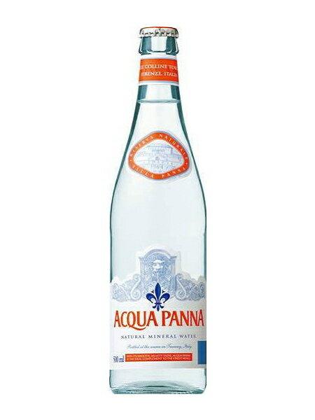 アクアパンナ(ACQUA PANNA) 無炭酸水 グラス(ビン) 1ケース(500ml×24本) [硬度108.0/中硬水/イタリア産]