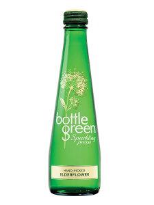 ボトルグリーン(BOTTLE GREEN) スパークリング エルダーフラワー 発泡炭酸水 グラス(ビン) 1ケース(275ml×12本) [イギリス産]【楽ギフ_のし】【楽ギフ_のし宛書】