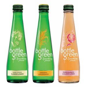 ボトルグリーン スパークリング 発泡炭酸水 グラス(ビン) アソートセット 3種各4本入 1ケース(275ml×12本) [イギリス産]【楽ギフ_のし】【楽ギフ_のし宛書】