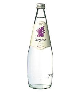 スルジーヴァ(SURGIVA)フリザンテ 発泡炭酸水 グラス(ビン) 1ケース(750ml×12本) [硬度20.1/超軟水/イタリア産]
