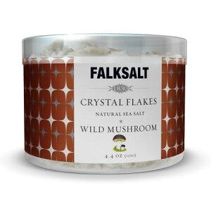 地中海クリスタルフレークソルトワイルドマッシュルーム125g ピラミッドの型をした結晶が美しい海水塩