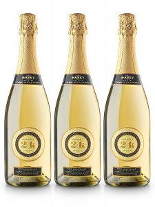 マセット 24K ゴールド スパークリングワイン(Maset 24K Gold Sparkling Wine) 金箔入り 1ケース(750ml×6本) 化粧箱なし[スペイン]【楽ギフ_のし】【楽ギフ_のし宛書】