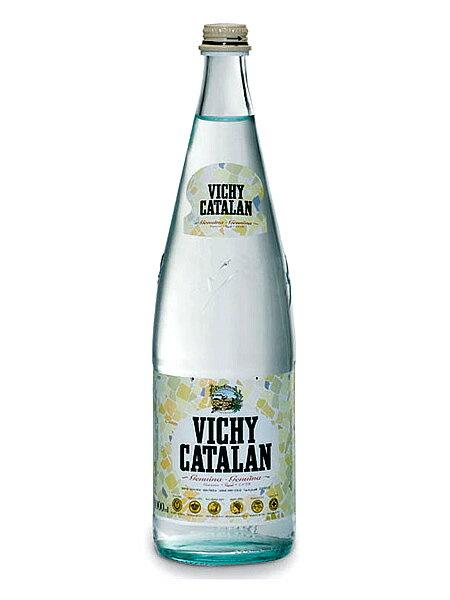 ヴィッチーカタラン(VICHY CATALAN) 天然発砲炭酸水 グラス(ビン) 1ケース(1000ml×12本) [硬度82.0/軟水/スペイン産]