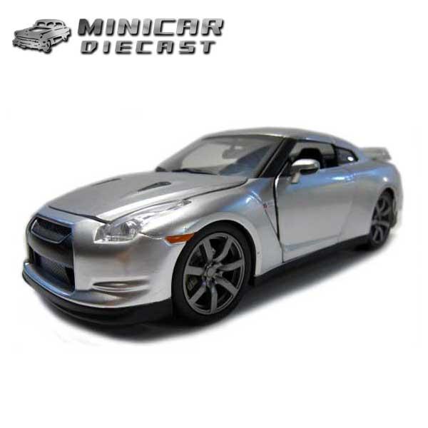 1/24 ワイルドスピード ミニカー 箱入り【Brian's Nissan GT-R R35 シルバー】ニッサン日産 アメ車FAST&FURIOUS ワイルド・スピード ブライアンモデル