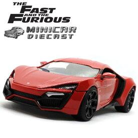 1/24 ワイルドスピード 箱入り ミニカー LYKAN HYPERSPORT レッド ライカン ハイパースポーツ 赤 スーパーカー FAST&FURIOUS WILD SPEED ワイルド・スピード ワイルド スピード ワイスピ ジャダトイズ社製