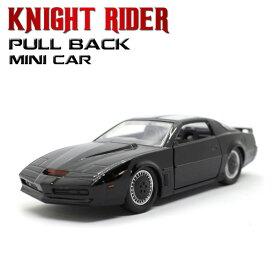 """1/32 プルバックミニカー KNIGHT RIDER """"K.I.T.T"""" (ブラック) ナイト 2000 アメ車 ポンティアック ファイヤーバード トランザム ナイトライダー"""