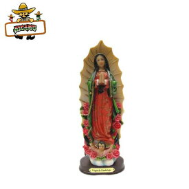 【マリア様 オブジェ(ローズ) 約21cm】グアダルーペ マリア様 雑貨 メキシコ グッズ インテリア 置物guadalupe maria