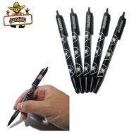 レイダース黒インクボールペン5本セットNFLRAIDERS文房具アメフト