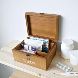 救急箱 木箱 薬箱 シンプル ナチュラル 収納 PREVENT ファーストエイドボックス ミニ