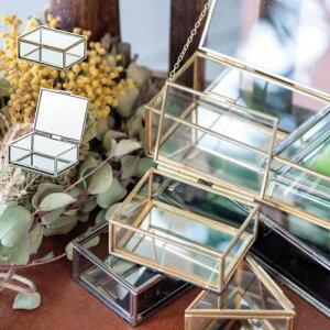 ガラスボックス おしゃれ ガラスケース アクセサリーケース コレクション ディスプレイケース 小物入れ 小物収納 インテリア フレームボックス レクトS