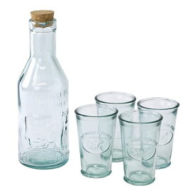 AUTHENTIC GLASS コルク蓋ボトル&タンブラー4個セット sp-vglh1839
