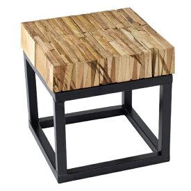 サイドテーブル FESTA HOME パーケットテーブル スクエア Sサイズ  sp-sffl1803
