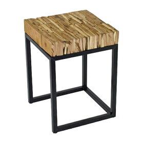 サイドテーブル FESTA HOME パーケットテーブル スクエア Lサイズ  sp-sffl1804