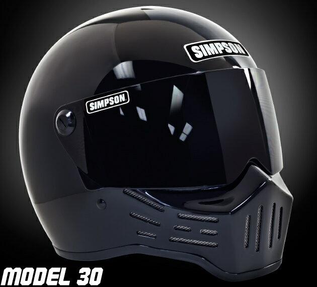 【SIMPSON[シンプソン]】 M30[MODEL30] フルフェイスヘルメット ブラック 各サイズ