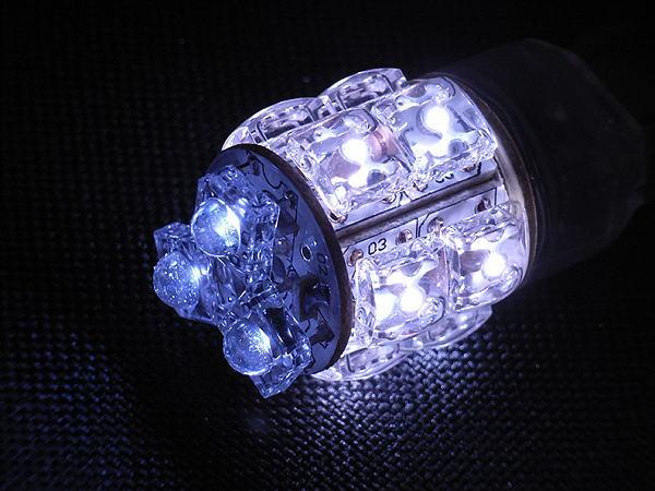 T20タイプ 広角3段 13連LEDバルブ ウェッジ W球 ホワイト