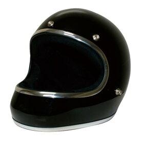 送料無料 レトロ フルフェイス ヘルメット【DAMMTRAX[ダムトラックス]】 アキラ ブラック 黒 メンズ Lサイズ(59cm〜60cm) バイク用