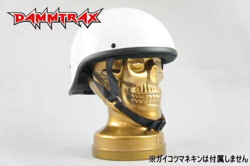 送料無料 REVEL レベル【装飾用ヘルメット】ではありません!ダックテールヘルメット ホワイト 白 バイク用 ハーフヘルメット【DAMMTRAX[ダムトラックス]】安全規格品 あす楽