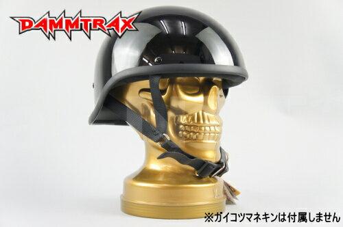 【DAMMTRAX[ダムトラックス]】 レベル ブラック 黒 ダックテール ヘルメット バイク用 ハーフ ヘルメット【あす楽】
