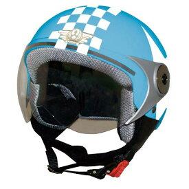 ジュニア用【DAMMTRAX[ダムトラックス]】 ダムキッズ ポポGT ブルー 青/STAR バイク用 子供用 ヘルメット【あす楽】