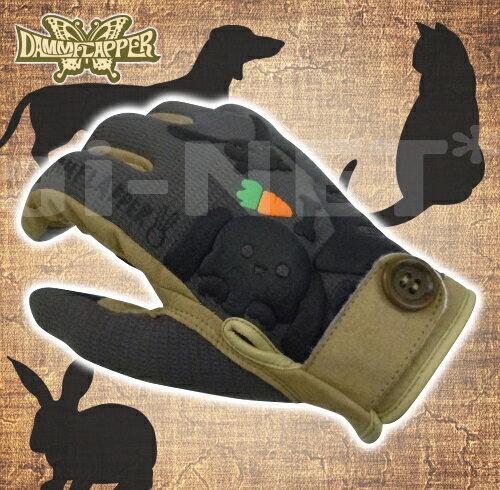 【送料無料】DAMMTRAX カリーナグローブ BLACK/ブラック【レディース ダムフラッパー】スマホ対応 バイク用 女性用グローブ 動物柄手袋【あす楽】