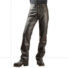 【送料無料】【DEGNER[デグナー]】 レザー スキニー パンツ DP-23 ブラウン/Lサイズ