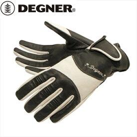 【DEGNER】 デグナー FRTG-33 レディース レザーグローブ ホワイト サイズS