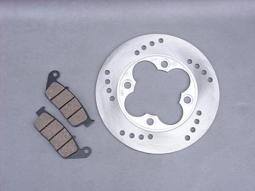【セール特価】保証付】【FUSION[フュージョン]】 MF02 フロントブレーキディスクローター&ブレーキパッドセット 純正タイプA