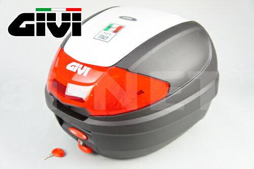 【送料無料】【GIVI[ジビ]】 リアボックス バイク用 ボックス モノロックケース E300N2 B912 パールホワイト(白)【76880】【バイクリアボックス トップケース】
