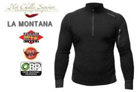 【セール特価】【HOT CHILLYS】 ラ モンタナ 極寒地仕様のベースレイヤー ジップアップシャツ メンズ ブラック HC4033[ホットチリーズ]