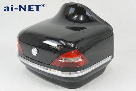 【1ヶ月保証付】【リアボックス】【トップケース】【ベンツ風】【HORNET[ホーネット]】 リアボックス アタッチメント付 汎用品 ブラック 黒