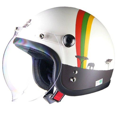 【50%オフ セール特価】送料無料 レディース ジェットヘルメット【LEAD】【Street Alice /ストリートアリス QP-2】アフリカ フリー(55〜57cm未満)【あす楽】