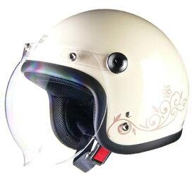 48%オフ セール特価 レディース ジェットヘルメット LEAD Street Alice /ストリートアリス QP-2 アイボリー フリー(55〜57cm未満)送料無料 オープンフェイス ヘルメット あす楽対応