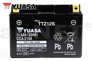 ユアサバッテリー【FORZA[フォルツァ]/BA-MF06用】YUASAバッテリーTTZ12S【12S】