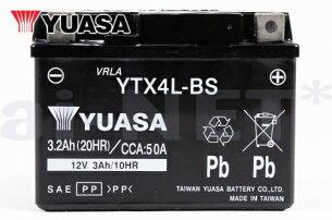 ユアサバッテリーYTX4L-BSバッテリー【YUASA】【YT4L-BS】【YT4LBS】【FT4L-BS】【4L-BS】【互換】【バッテリー】