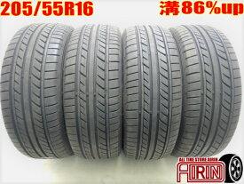 205/55R16 GOODYEAR EAGLE LS EXE 4本セット86 オーリス ヴォクシー ラフェスタ リーフ アクセラ インプレッサなどに中古タイヤ 16インチ中古夏タイヤ サマータイヤ 205 55 R16