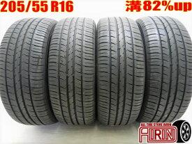 205/55R16 GOODYEAR Efficient Grip ECO EG01 4本セット 86 オーリス ヴォクシー ラフェスタ リーフ アクセラ インプレッサなどに中古タイヤ16インチ中古 夏タイヤ サマータイヤ 205 55 R16