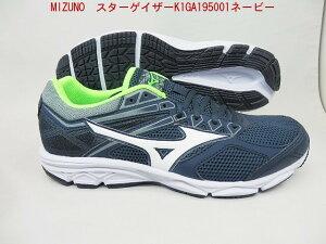 ユニセックスMIZNO★ミズノ ランニングシューズ メンズ スターゲイザー K1GA195001 09 軽量マラソンシューズ トレーニング クッション重視 ジョギングがクリアランス特価