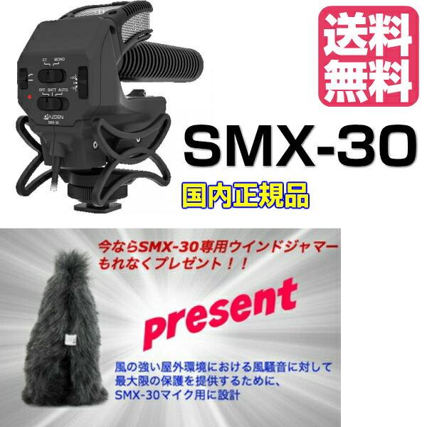 【専用ウインドジャマープレゼント】AZDEN アツデン ガンマイク モノラルステレオ切替式DSLR用マイクロホン SMX-30