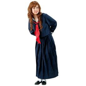 ロングセーラー服 Mサイズ スケバン 不良 女子高生 ヤンキー スカーフ付きセーラー服 ロングスカート