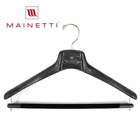 【10本セット】【国内正規品】MAINETTI マイネッティ イタリア製 木製ハンガーを超えるサルトリアーレハンガー【ブラック】40cm 43cm