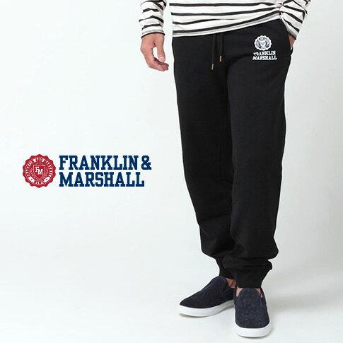FRANKLIN & MARSHALL フランクリンマーシャル スエット REGULAR FIT レギュラーフィット 秋冬 スエットパンツ ブラック 42181-2002-021