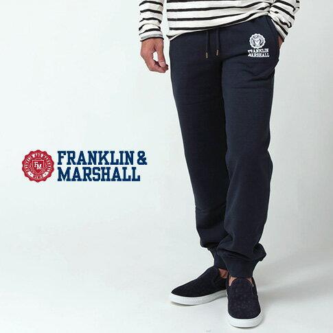FRANKLIN & MARSHALL フランクリンマーシャル スエット REGULAR FIT レギュラーフィット 秋冬 スエットパンツ ネイビー 42181-2002-167