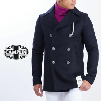 Camplin peacoat original pea coat brand upgrade model heavy Melton wool (WOOL RAIN) pea coat Navy CP524002-80