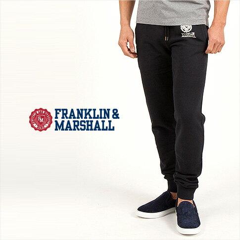 【F&M スウェット ALL10,000円】FRANKLIN MARSHALL<フランクリンマーシャル スウェット>【春夏】定番FRANKLIN MARSHALロゴ SLIM FIT スエットパンツ ブラック 39181-2001-021