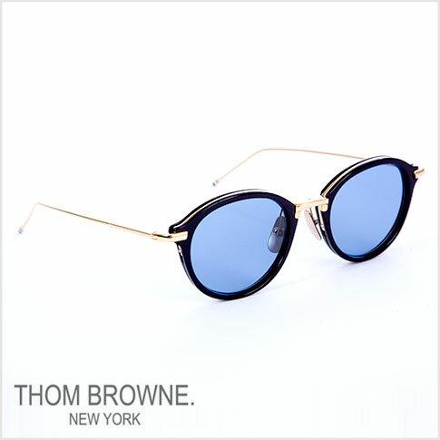 【数量限定入荷決定!】トムブラウン メガネ THOM BROWNE. NEW YORK EYEWEAR(トムブラウン ニューヨーク)メガネ サングラス[tb-011-f-t 49size NAVY-SHINY 18K GOLD/D.BLUE-AR]tb-011-f-t-T-NVY-GLD-49