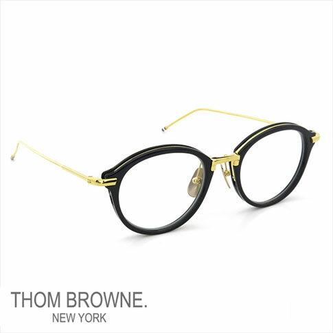 【数量限定 再入荷】トムブラウン メガネ THOM BROWNE. NEW YORK EYEWEAR(トムブラウン ニューヨーク)メガネ [TB-011F 49size NAVY SHINY 18K GOLD METAL BRIDGE&TEMPLES] TB-011-F-NVY-GLD-49