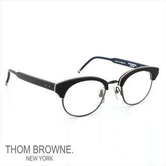 Thom 眼镜 THOM BROWNE。 纽约眼镜 (Thom 纽约) 眼镜 [结核病 702 C-T-BLK-RWB-BLK-47size 亚光黑色 RWB 铁 W/清除-AR] TB-702-C-BLK-BLK-47 P08Apr16